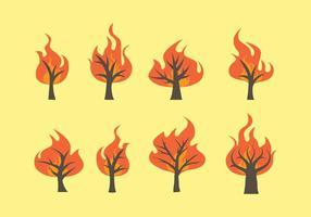 Brinnande buskevektorer vektor