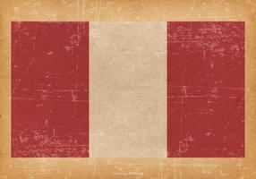 Grunge Flagga av Peru vektor