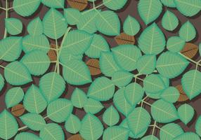 Poison Ivy Nahtlose Muster Vektor