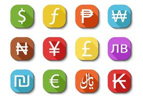 Gratis Valuta Ikoner Vector