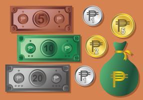Peso Geld Vektor Set