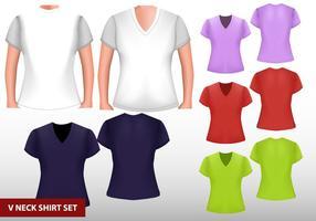 V-skjorta för kvinna mall vektor