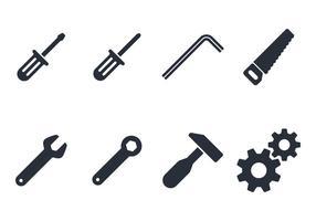 Werkzeuge Icon Set vektor
