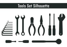 Werkzeuge Set Silhouette vektor