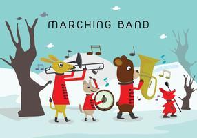 Tier Marching Band Charakter Vektoren