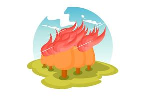 Brinnande skogsvektor vektor