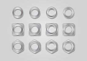 Metall Tillbehör Collection vektor