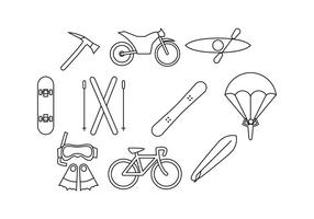 Gratis Extreme Outdoor Activities Line Icon Vector