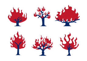 Brinnande buskevektor vektor