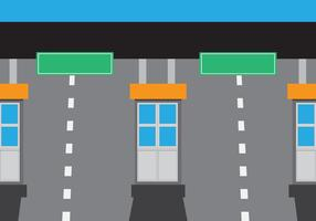 Enkel Toll Booth Station Vector