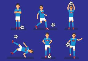 Napoli Fußball-Spieler Pose Vektor-Illustration