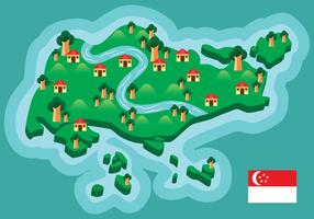 Singapur-Karte