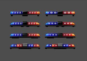 Lange Polizei beleuchtet freien Vektor