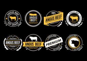 Angus nötköttetiketter vektor