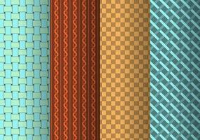 Plait och vävt mönster samling vektor