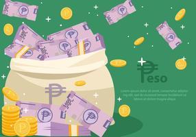 Peso mexikanisches Geld vektor