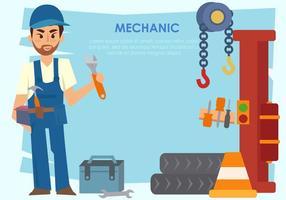 Mechaniker Mann Vektor