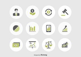 Aktienmarkt und Finanzmarkt Vektor Icons