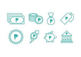Kostenlose Peso Currency Line Icons