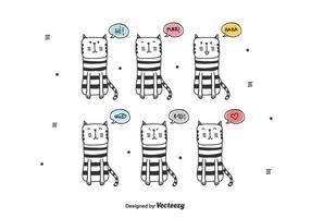 Katt vektor uppsättning