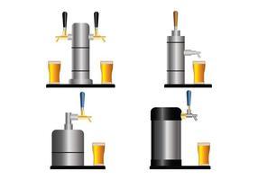 Bier-Pump-Vektor-Set
