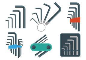 Allen Schlüssel Vektor Icons