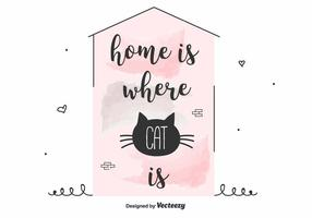 Katze Inspirierend Zitat Vektor