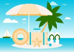Freie Sommer-Elemente Vektor Hintergrund