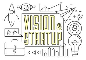 Free Linear Startup Vektor Elemente