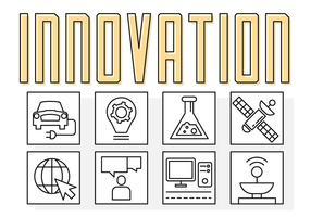 Lineare Technologie Innovation Zeichen vektor