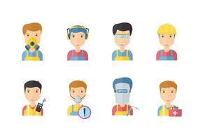 Säkerhetsarbetande ikoner