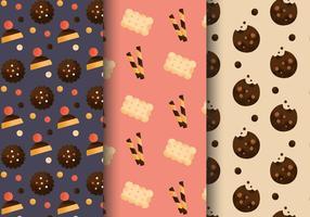 Kostenlose Nette Bäckerei Muster vektor
