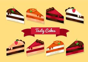 Freie Kuchen Scheiben Vektoren