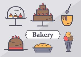 Gratis söta bagerielement vektor