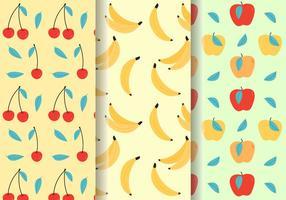 Gratis söta fruktmönster vektor