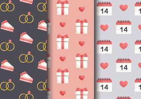 Freie Nette Valentinstag-Muster vektor