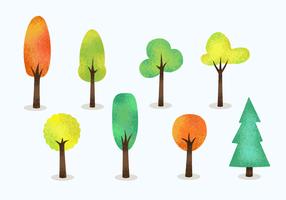 Gratis korniga träd vektor