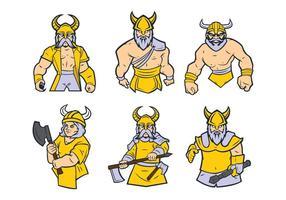 Free Viking Maskottchen Vektor 01