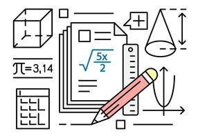 Kostenlose Vektor-Illustration über Mathematik