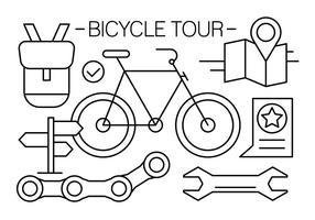Kostenlose Linear Fahrrad Icons vektor