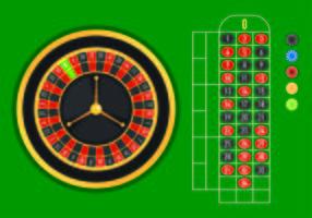 Provvektor av roulettabell vektor