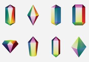 Färgglart kvarts kristall vektor
