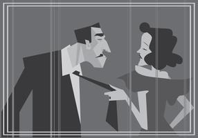Klassischer Stummfilm-Schauspieler-Vektor