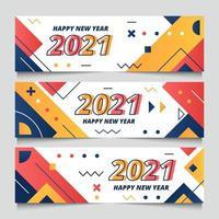 2021 modernes geometrisches Banner vektor