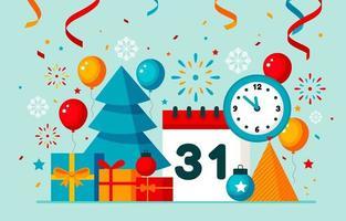 platt nytt år bakgrund