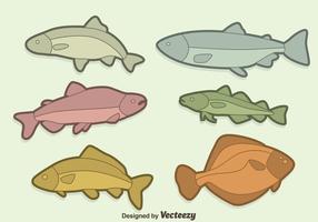 Fisksamlingsvektor vektor