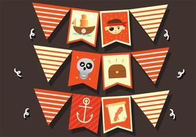 Piraten Banner Vektor Pack