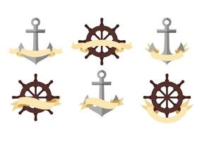 Pirat eller Nautical Banners Gratis Vector