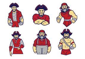 Freier Piraten-Logo-Vektor