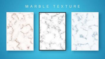 färgad marmor abstrakt texturuppsättning vektor